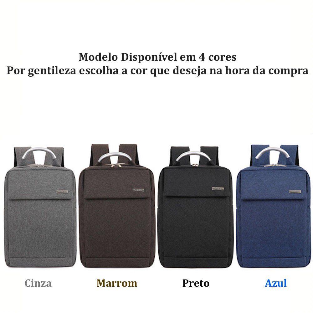 "Mochila Universitária Masculina Notebook 15.6"""