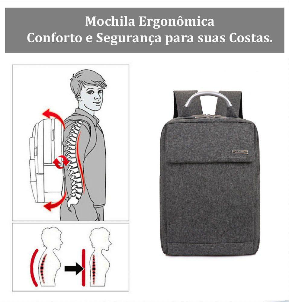Mochila Executiva Masculina Para Notebook 15.6