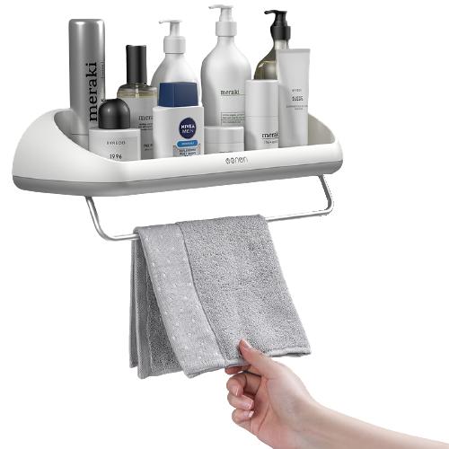 Prateleira Para Banheiro e Cozinha Com Porta Toalha Moderna