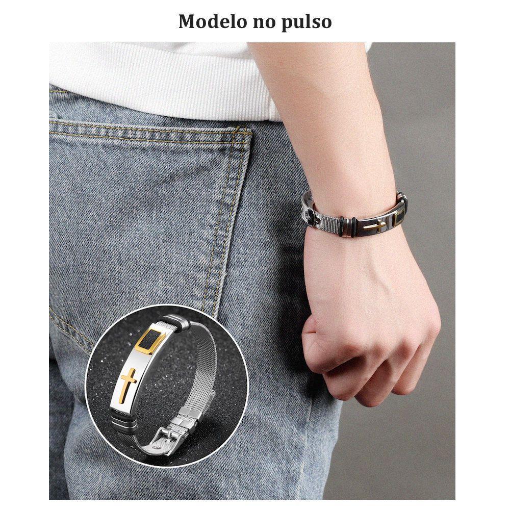 pulseira masculina antialergica