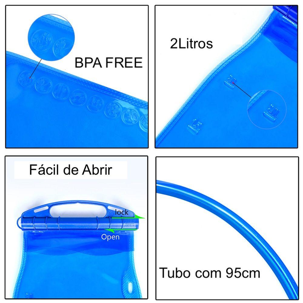 Refil Mochila de Hidratação 2 litros 100% Livre de PVC e BPA