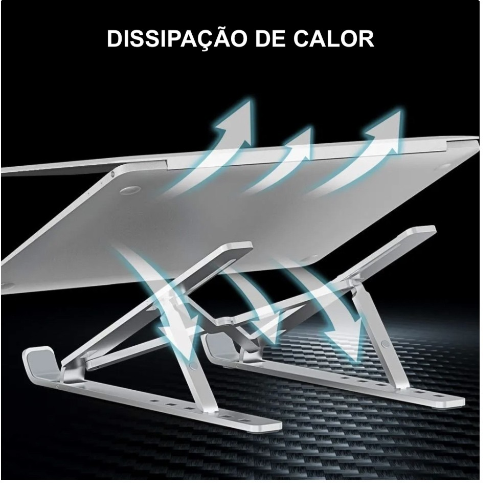 Suporte Ergonômico Para Notebook Macbook de Alumínio Premium
