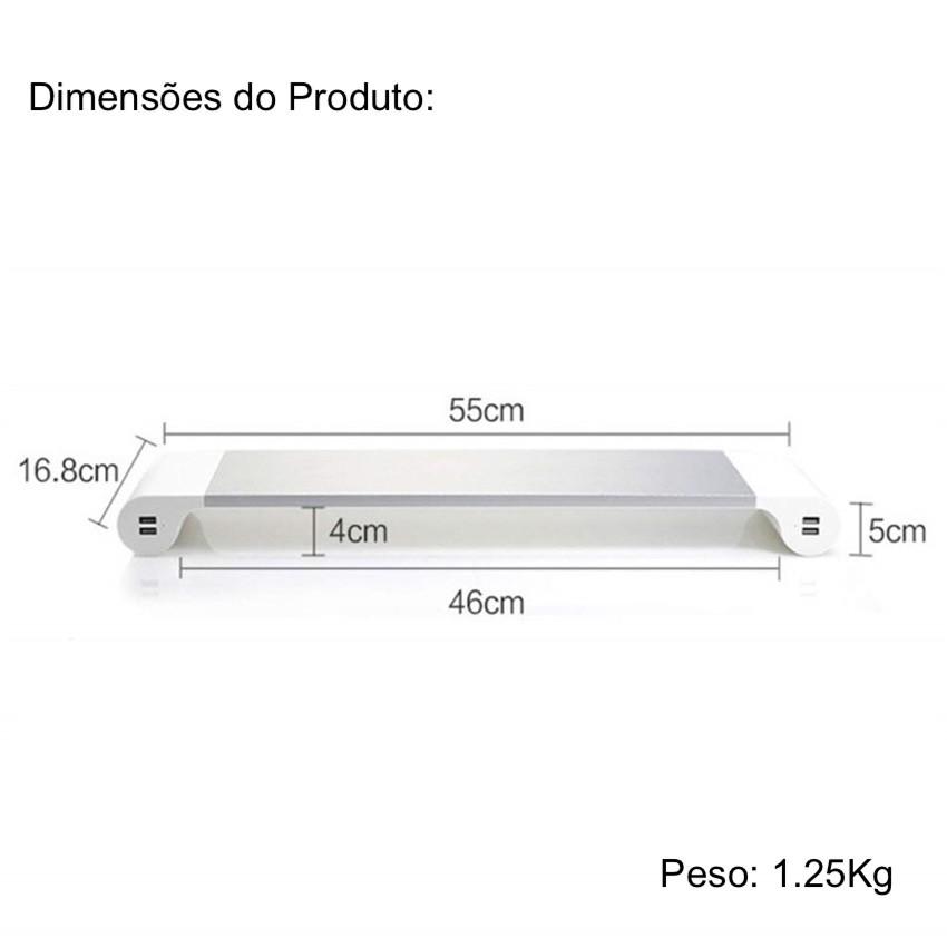 Suporte Monitor Para Mac Samsung Dell Entrada USB Alumínio
