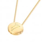 Colar De Signo Constelação De Leão banhado em ouro 18k