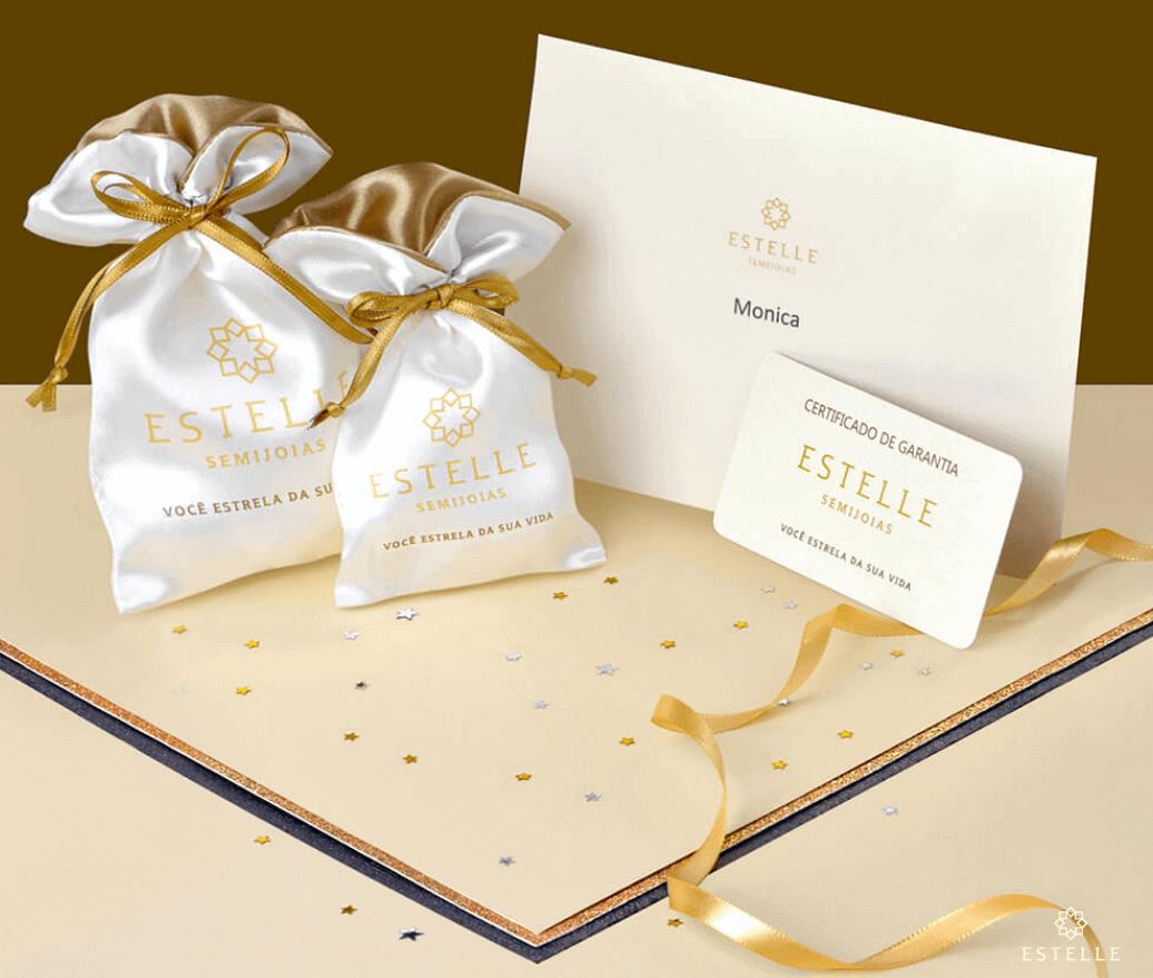 Anel Duplo Luxo Com Zirconias Gabriela banhado em ouro 18k