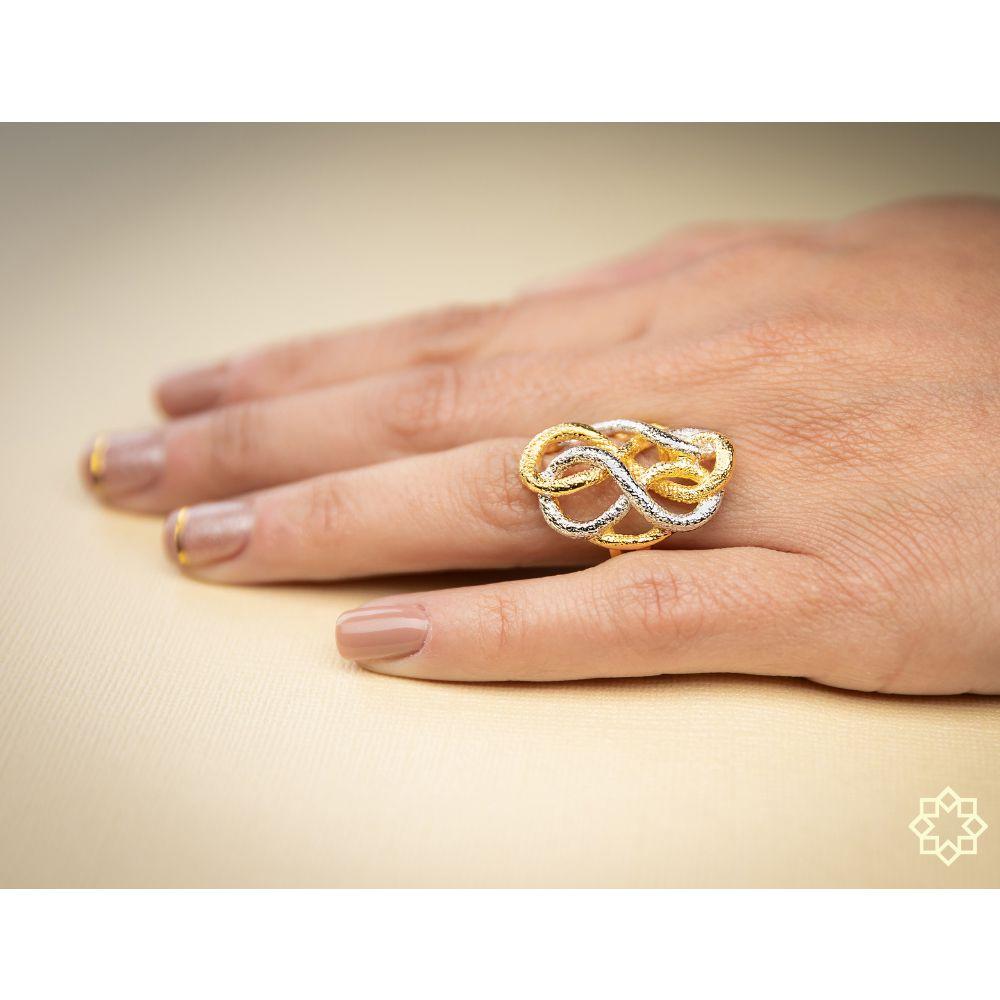 Anel Feminino Agustina banhado em ouro 18k