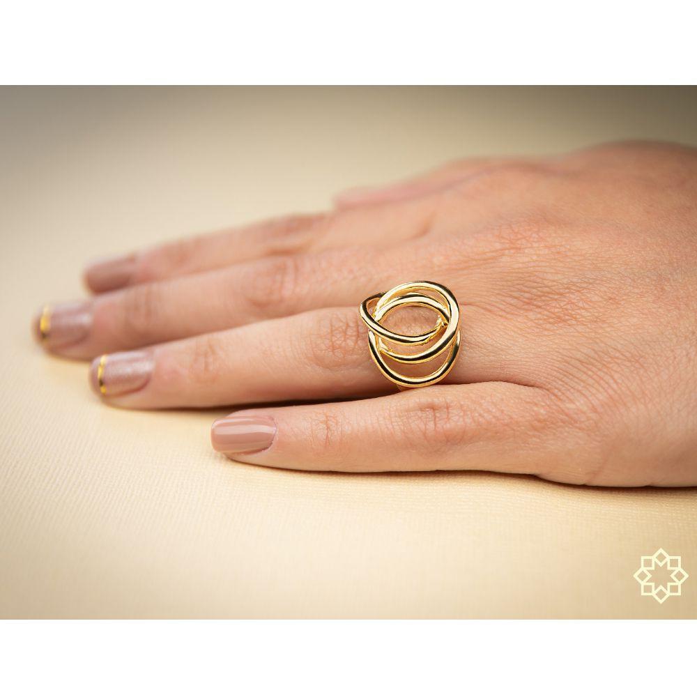 Anel Feminino Chiara banhado em ouro 18k