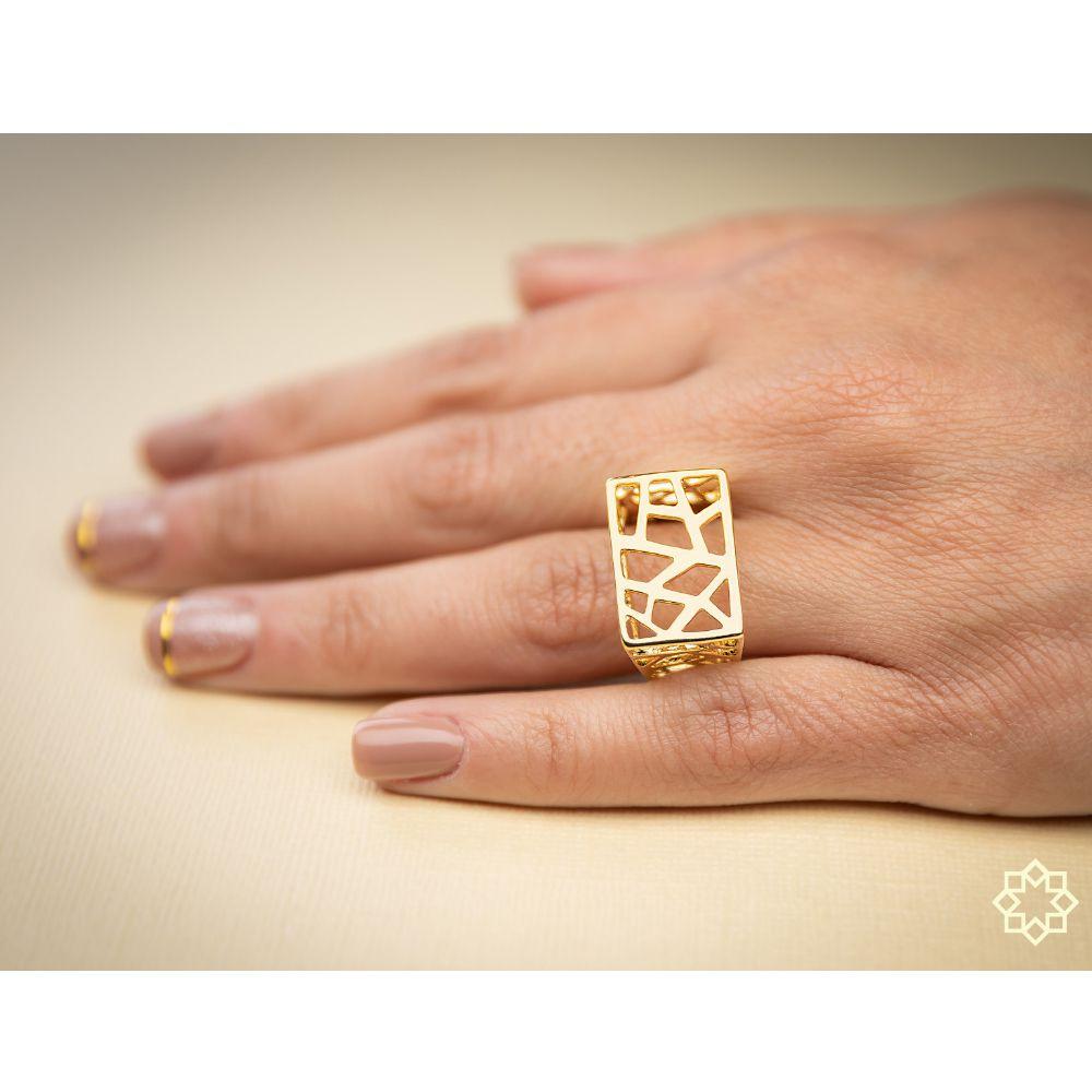 Anel Feminino Geometrico Bruna