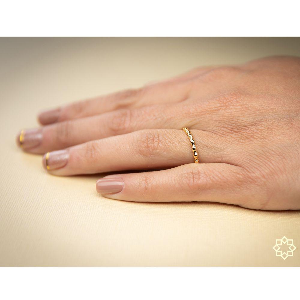 Anel Fininho Lucy banhado em ouro 18k