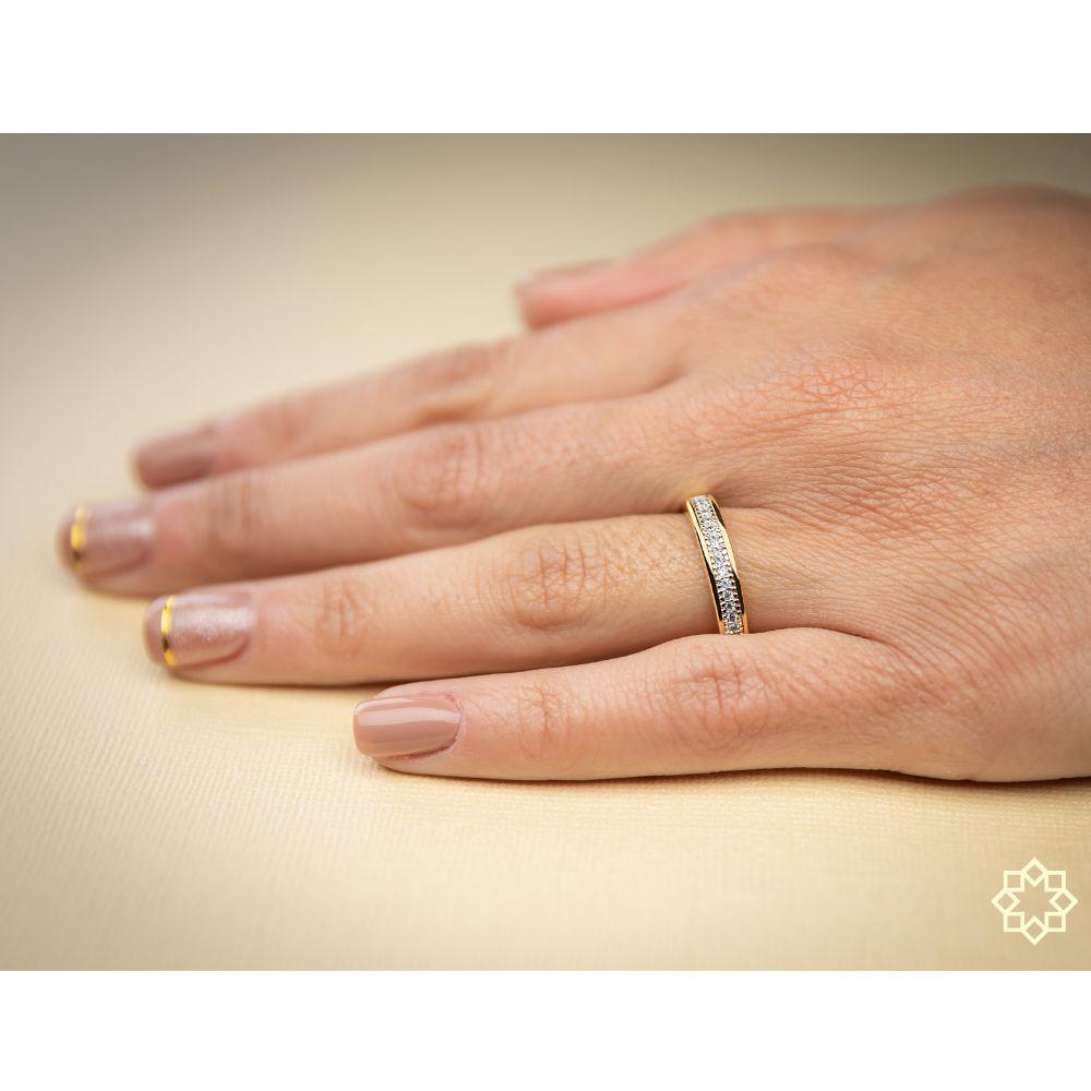 Anel Triplo Luxo Com Zirconias Bárbara - 4 em 1! banhado em ouro 18k