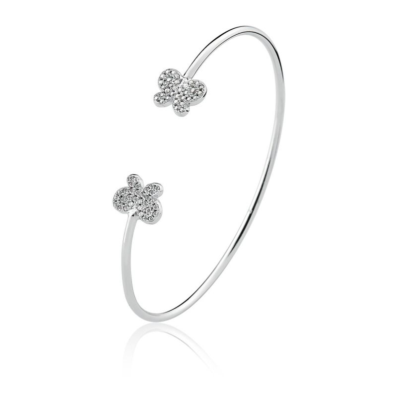 Bracelete Com Zirconias Borboleta