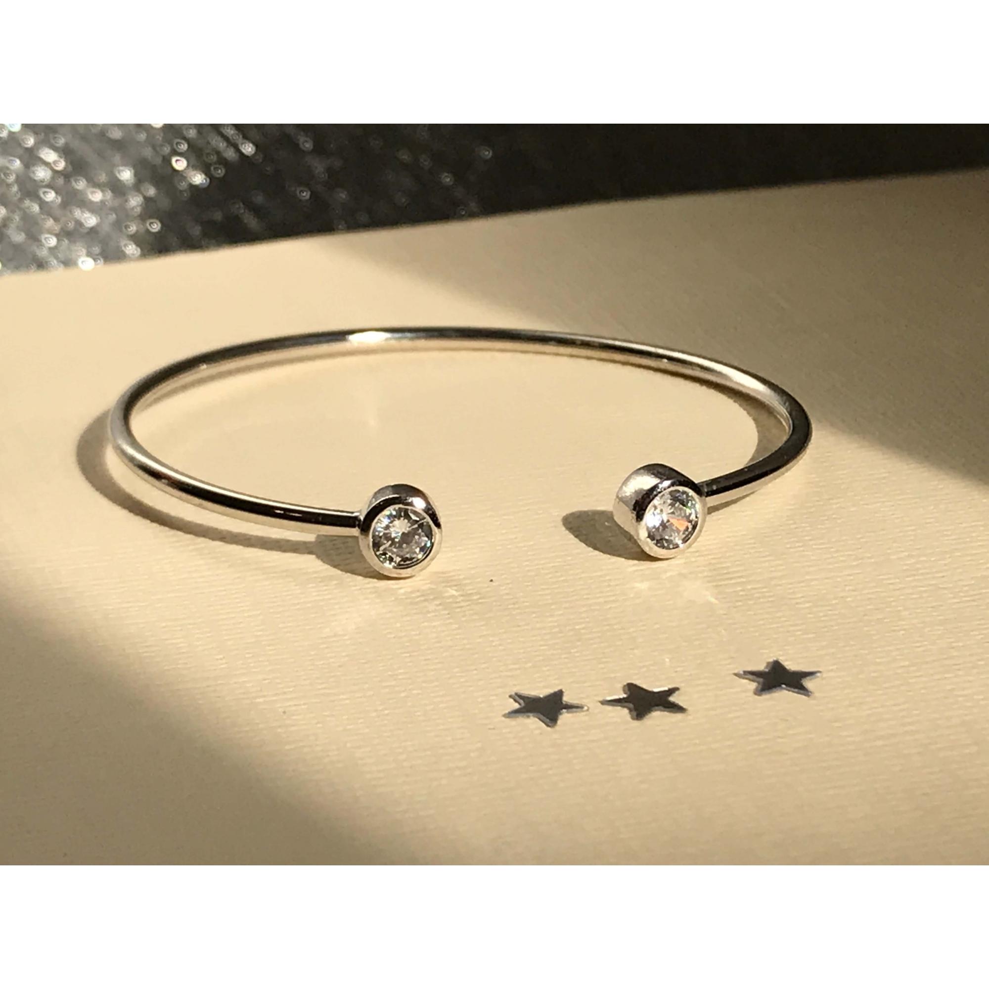 Bracelete Com Zirconias Doris banhado em ródio