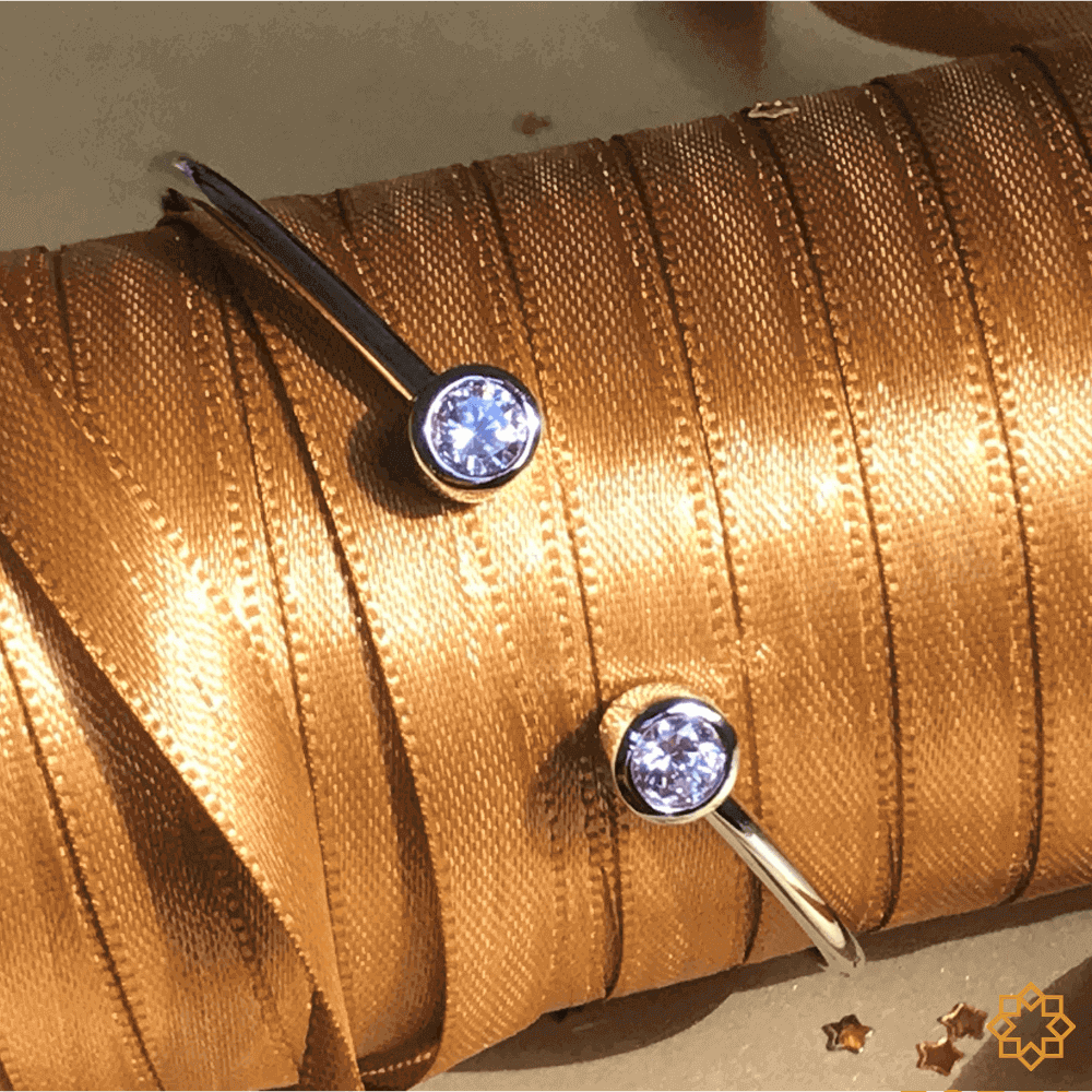 Bracelete Com Zirconias Doris em ródio