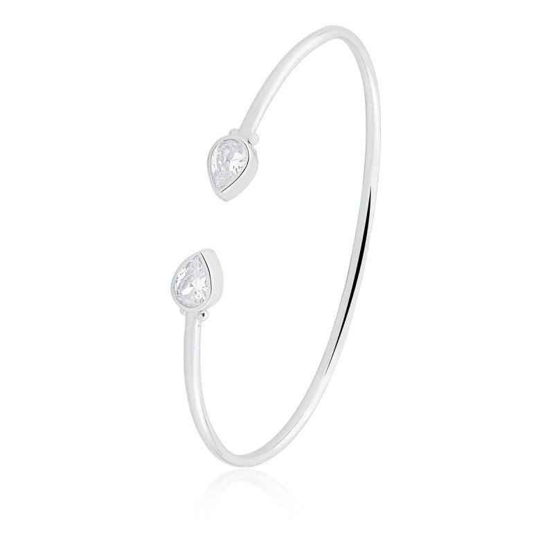 Bracelete Com Zirconias Julia em ródio