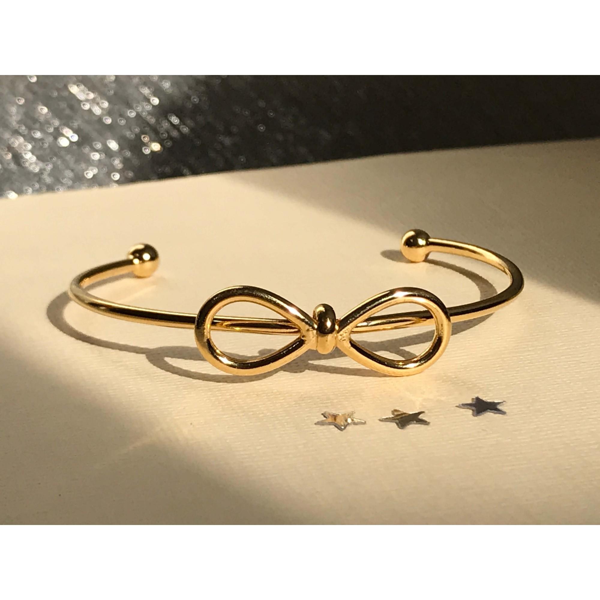 Bracelete de Laço banhado em Ouro 18k  Alice banhado em ouro 18k