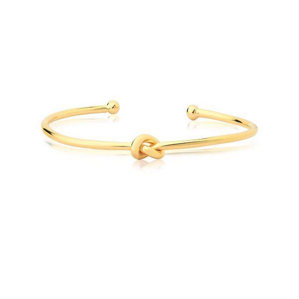 Bracelete de Nó Bia Folheado A Ouro