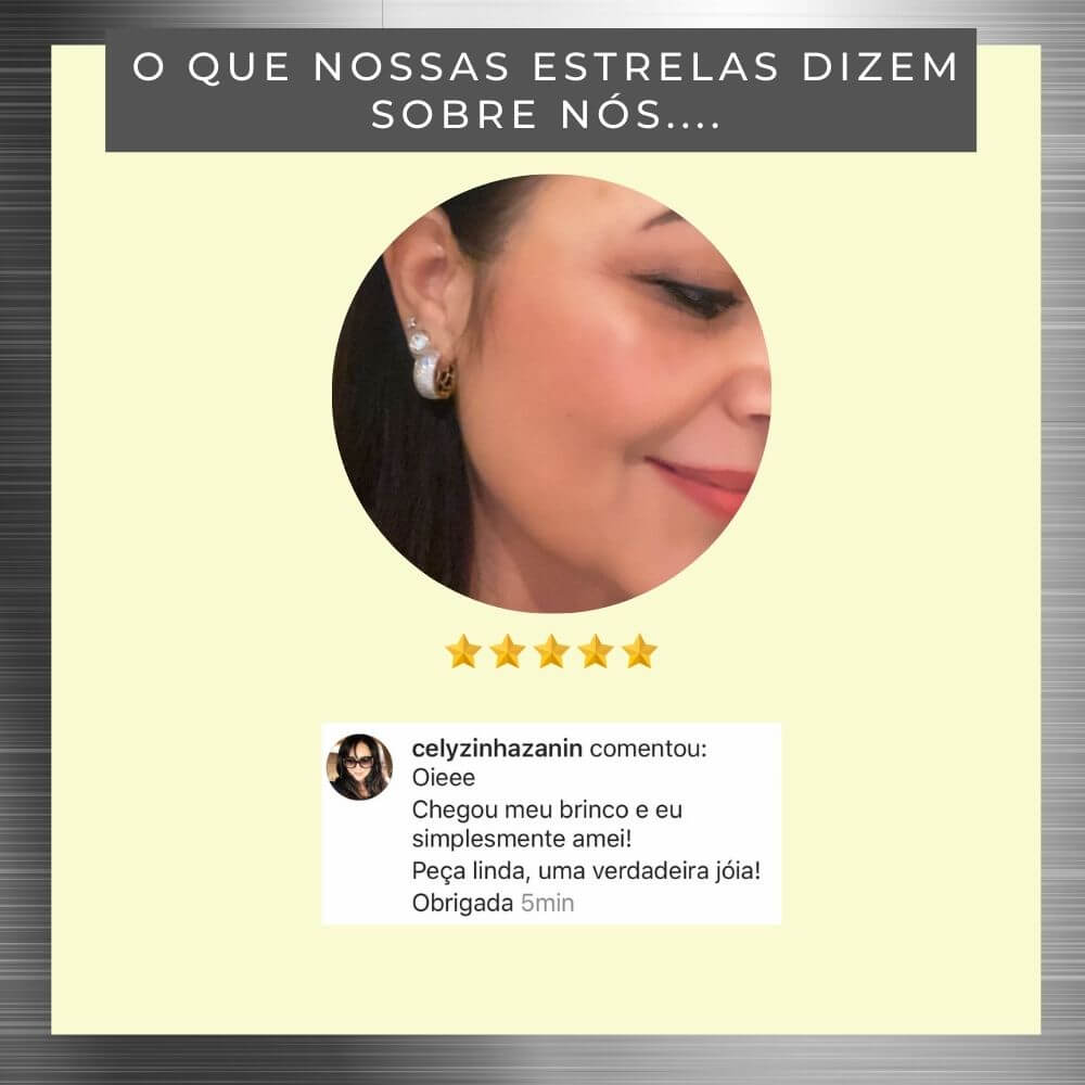 Brinco De Argolas Com Zirconias Ana Clara banhado em ouro 18k