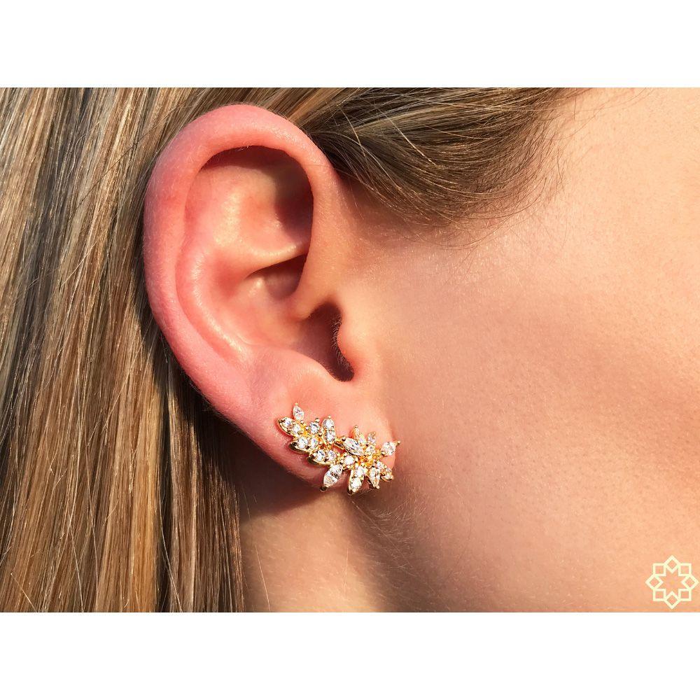 Brinco Ear Cuff Com Zirconias  Amanda