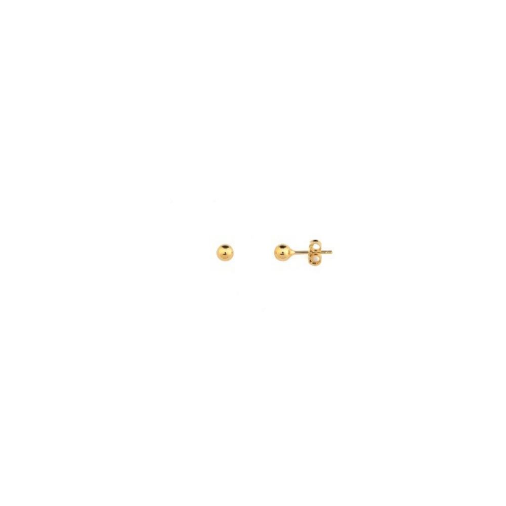Brinco Segundo Furo De Bolinha micro banhado em ouro 18k