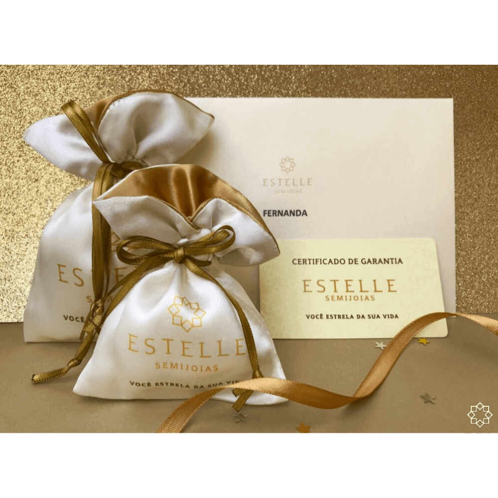Colar 45 cm com Pingente Olho Grego, estrela e flor banhado em ouro 18k