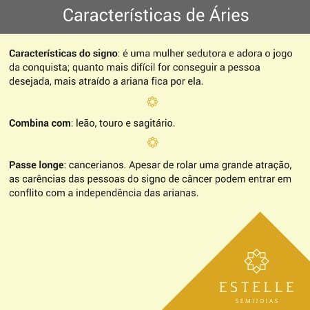 Colar De Signo Aries Com Zirconias