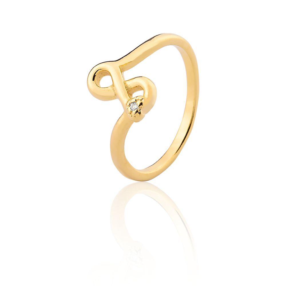 Anel Infinito Com Zirconia banhado em ouro 18k