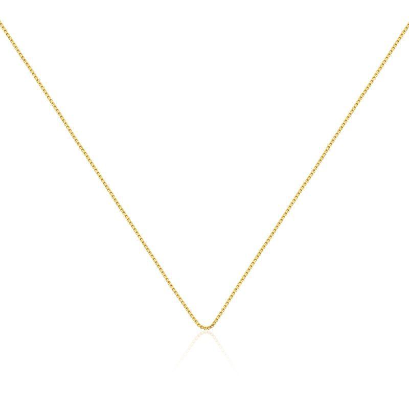 Corrente veneziana banhada em ouro - 45cm com extensor