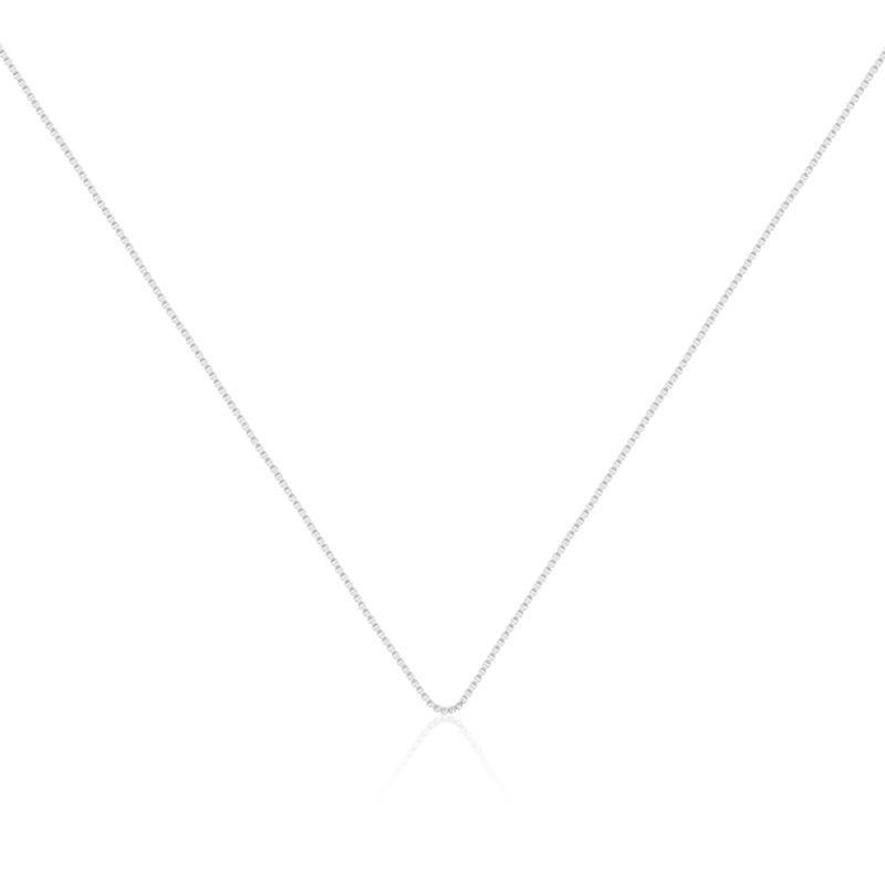 Corrente veneziana em ródio - 45cm com extensor
