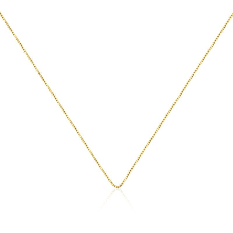 Corrente veneziana banhada em ouro - 50cm com extensor