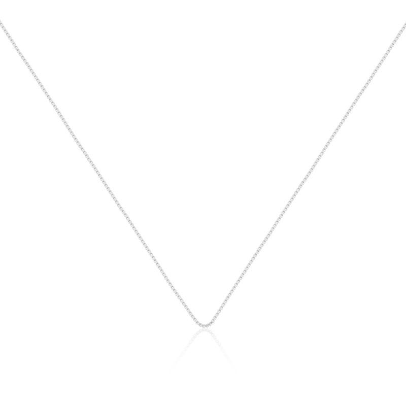 Corrente veneziana de prata 925 - 45cm sem extensor