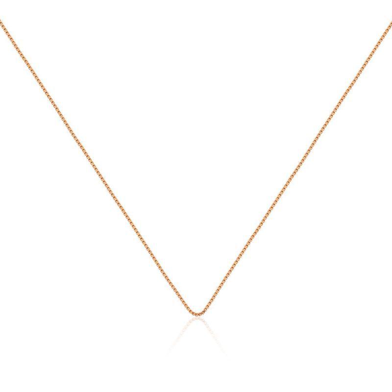 Corrente veneziana em ouro rosé - 45cm com extensor
