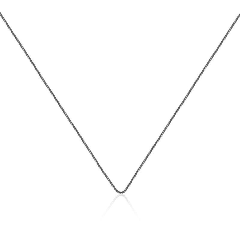 Corrente veneziana em ródio negro - 40cm sem extensor