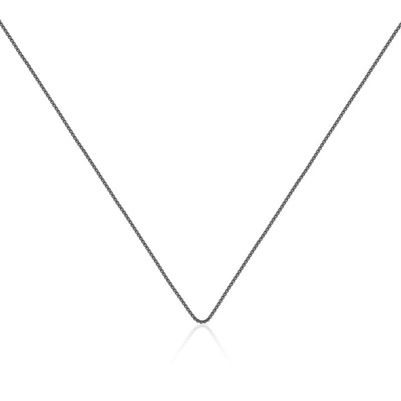 Corrente veneziana em ródio negro - 45cm com extensor