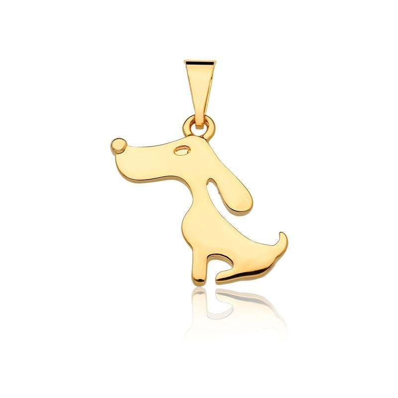 Pingente de Cachorrinho banhado em ouro 18k