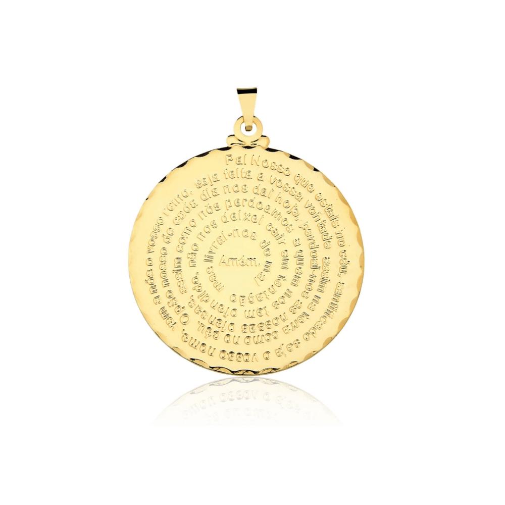 Pingente Pai Nosso banhado em Ouro 18k - 4cm - grande