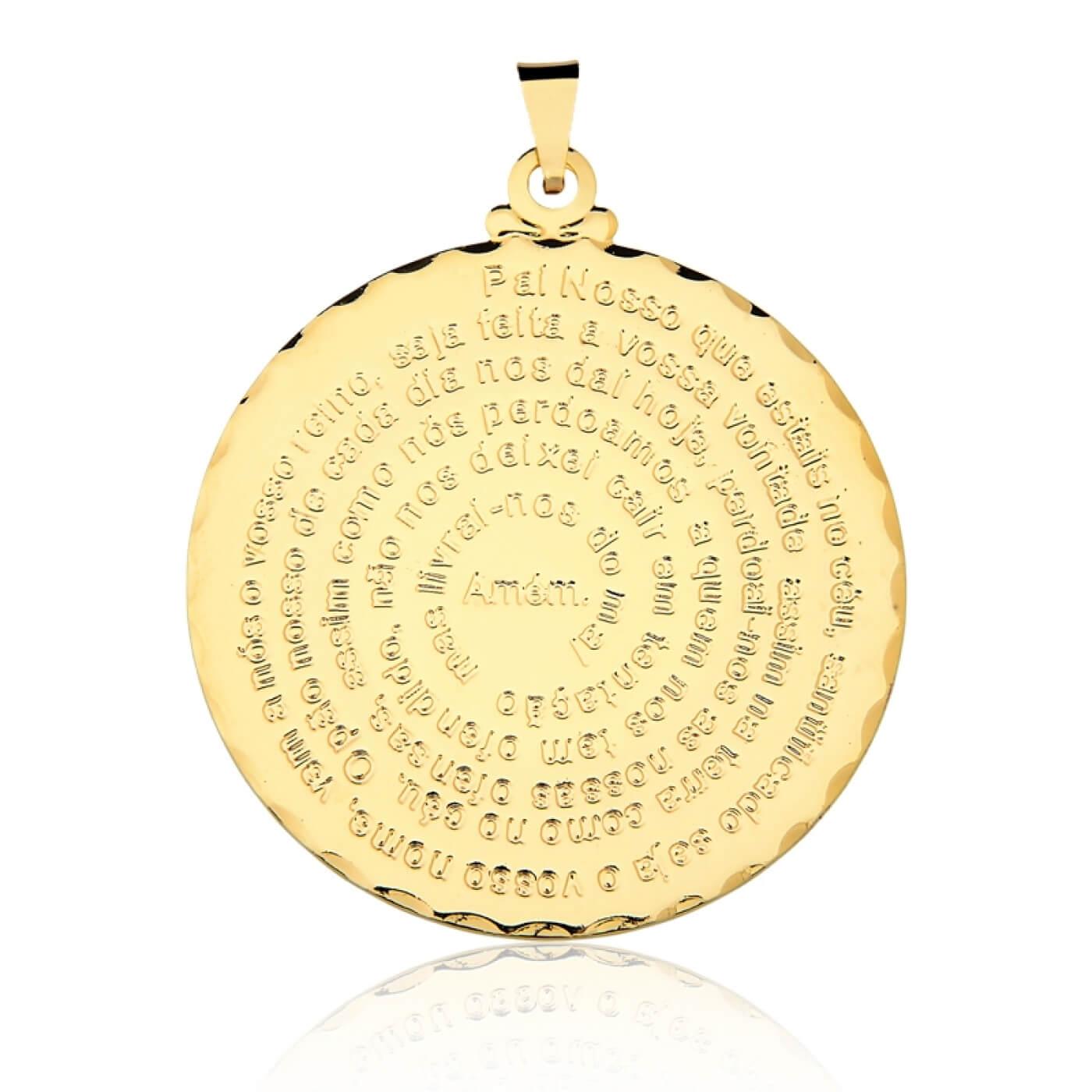 Pingente Pai Nosso banhado em Ouro 18k grande