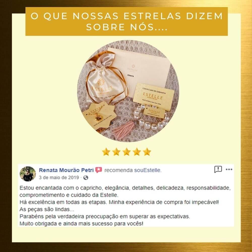 Pulseira de Pérolas Shell Jackie com Tassel de cristais Rosa em zirconias e ródio