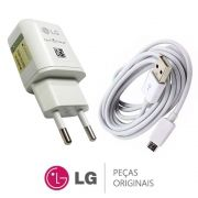 KIT CARREGADOR + CABO USB CELULAR MCS-H05BR MCS-H06BR LG EAY64469120