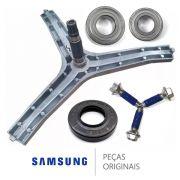Kit Eixo Lava E Seca Samsung 1 Retentor 2 Rolamento 3 Parafusos