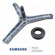Kit Eixo Tripe Lava E Seca Samsung Com Retentor Original