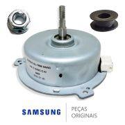 Kit Motor Ventilador Secagem Lava E Seca Samsung + Porca + Hélice + Retentor + Carcaça