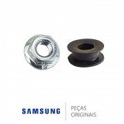 KIT PORCA E RETENTOR DO MOTOR SECAGEM SAMSUNG 6021-000225 / DC62-00191A