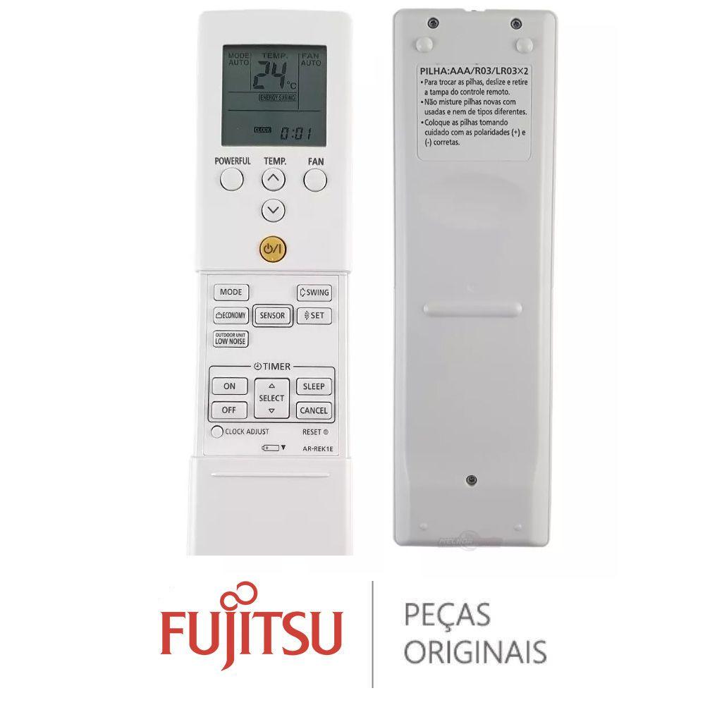 CONTROLE REMOTO AR-REK1E FUJITSU INVERTER 9332438192