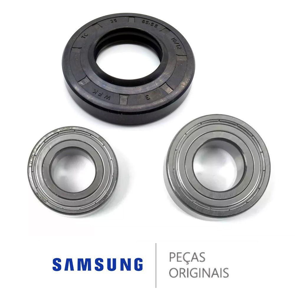 Kit Rolamento E Retentor Eixo Lava E Seca Samsung Original