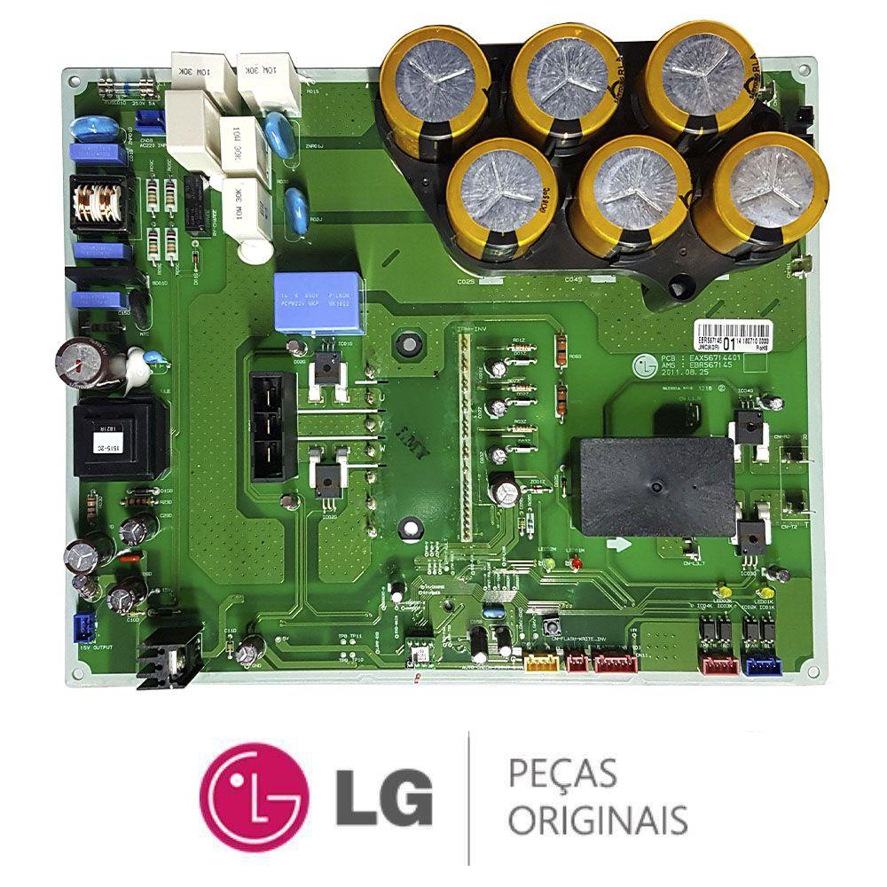 PLACA CONDENSADORA INVERTER AR CONDICIONADO LG ARUN100LM3 EBR56714501