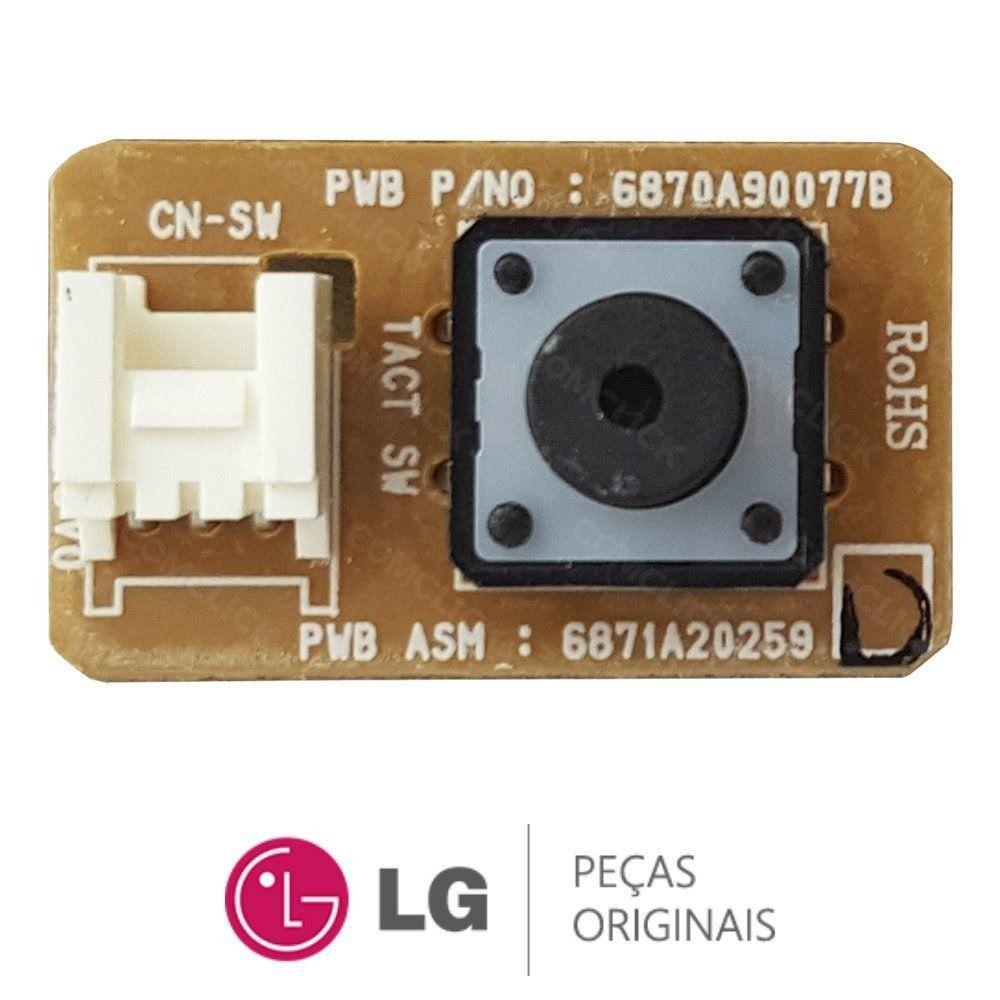 Placa Sub Botão Liga Desliga Ar Condicionado Lg 6871a20259d