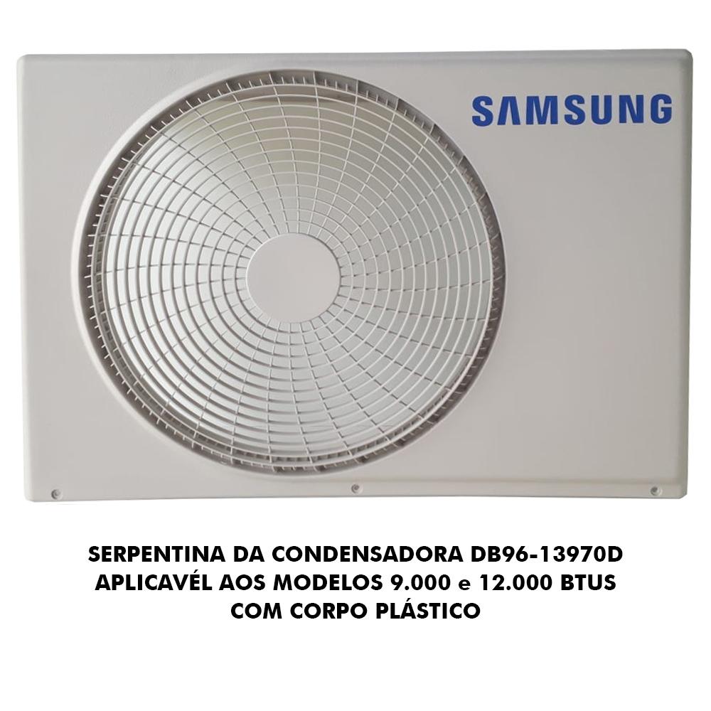 SERPENTINA CONDENSADORA AR CONDICIONADO SAMSUNG 9000 E 12000 - DB96-13970D