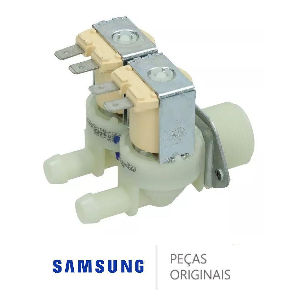 Válvula De Entrada De Água Dupla 220v Samsung Dc62-00024f