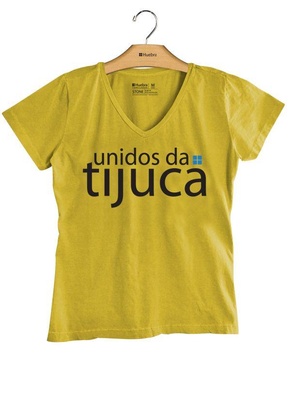 T-Shirt Feminina Gola V Unidos da Tijuca