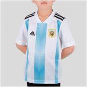Camisa Argentina Home Adidas 2018 Infantil